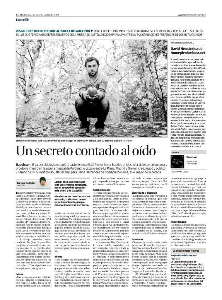 Rauelsson: 'Tiempo de EP & Pacífico EP' (Hush, 2008) - nomepierdoniuna.net